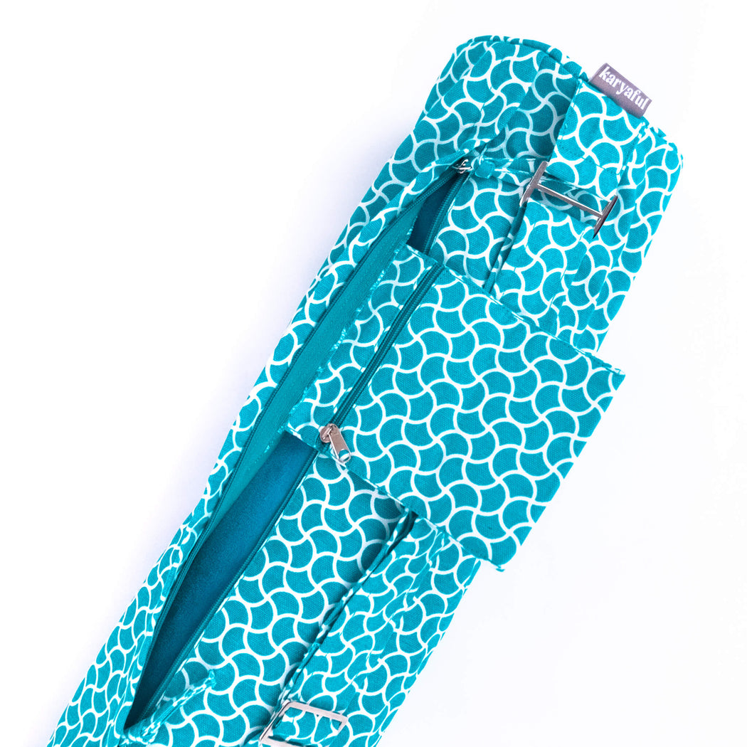 Sea Foam Yoga Mat Carrier Bag