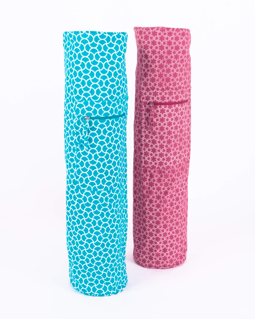 Plum Rose Yoga Mat Carrier Bag (XL)