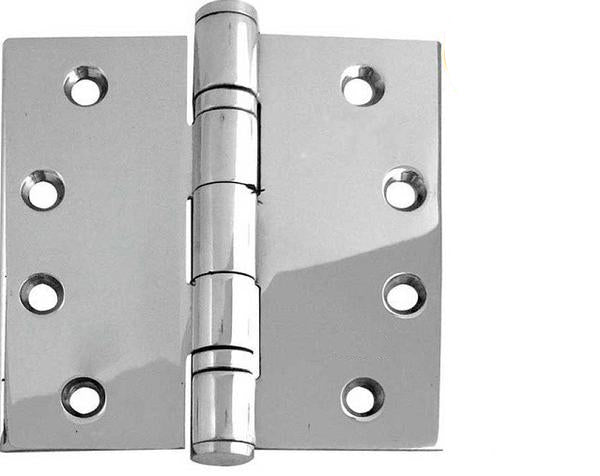 4 x 4 Inch Polished Stainless Steel Ball Bearing Hinges