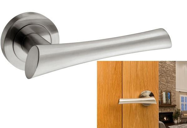 Atlantic UK Corsica Satin Nickel Door Handles - M60SN