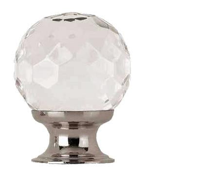 JH1155 Clear Faceted Glass Cupboard Knob - Various Sizes