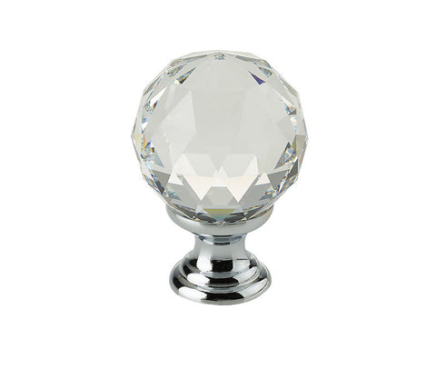 Swarovski Crystal Elements Faceted Cupboard Knobs 2000-30PC Polished Chrome
