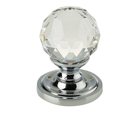 Swarovski Crystal Mortice Door Knobs Polished Chrome 60mm - 2000/60PC