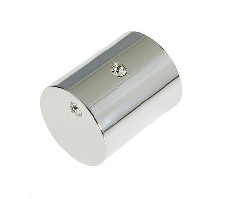 Swarovski Cylindrical Crystal Jewel polished chrome Mortice Door Knobs - 2014