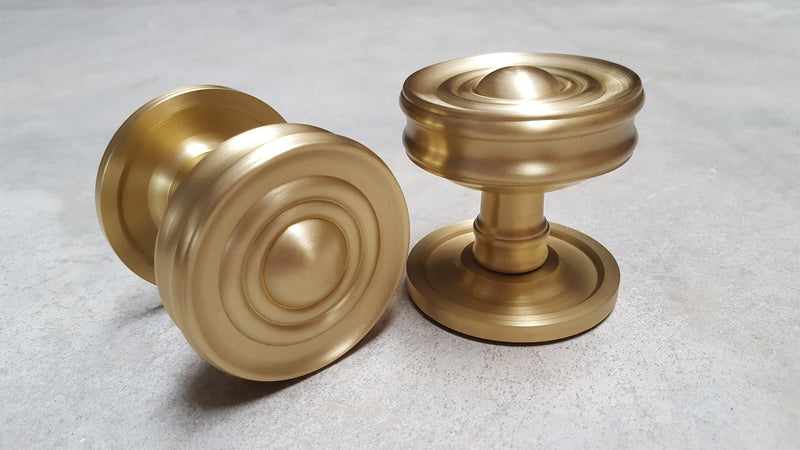 Frelan Burlington Range Bloomsbury Mortice Door Knobs BUR101SB - Satin Brass