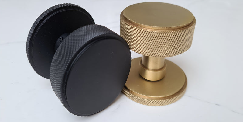 knurled door knobs