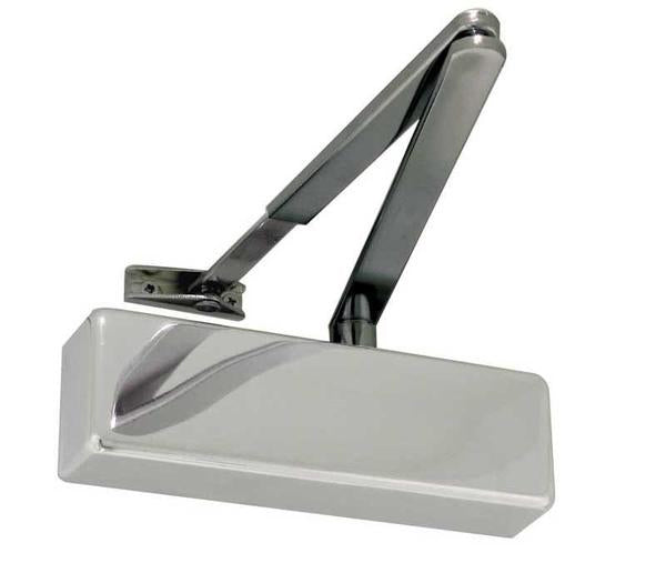 STANDARD POWER SIZE 2-4 OVERHEAD DOOR CLOSER BLACK ARM - POLISHED NICKEL/CHROME