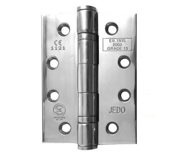 4 Inch Polished Stainless Steel, Grade 13 Fire Rated Ball Bearing Hinges