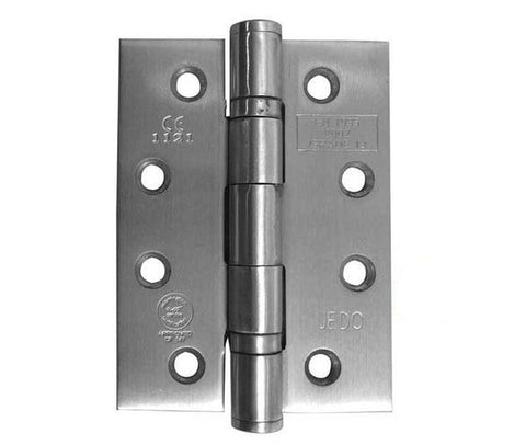 4 Inch Satin Stainless Steel, Grade 13 Fire Rated Ball Bearing Hinges