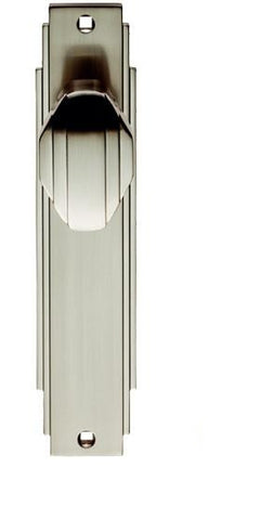 ADR022SN LATCH Carlisle Brass Art Deco Door Knob On Backplate - Satin Nickel