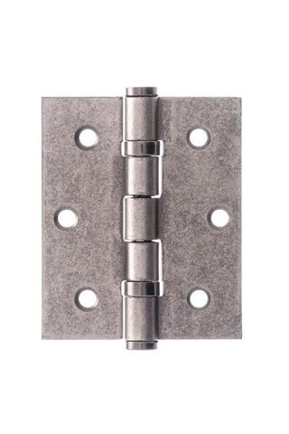 Distressed Silver (Pewter) Ball Bearing Hinges - 3 Inch