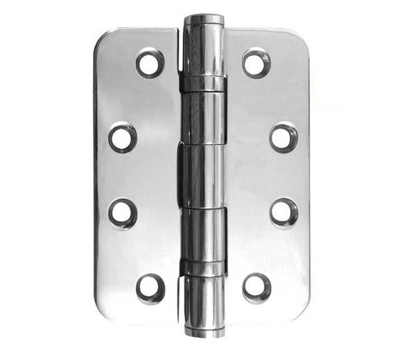 4 Inch Radiused Grade 13 Polished Stainless Steel Ball Bearing Hinges