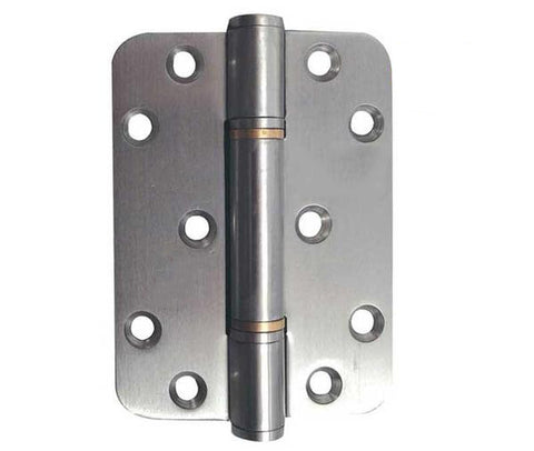 4 Inch Radius Satin Stainless Steel Self Lubricating Hinges