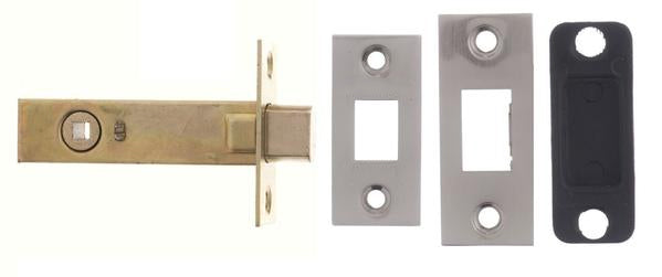 2.5, 3 And 4 Inch - Satin Nickel Bathroom Deadbolt