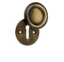 JV605AB Antique Brass Parisian Covered Keyhole