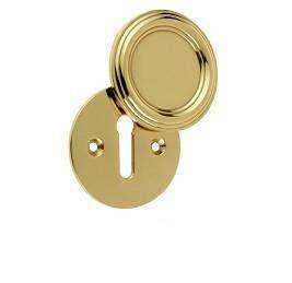 JV605PB Polished Brass Parisian Covered Keyhole