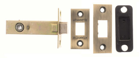 2.5, 3 And 4 Inch - Matt Antique Brass/Bronze Bathroom Deadbolt