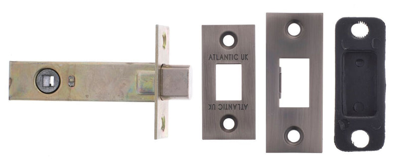 2.5, 3 And 4 Inch - Matt Gun Metal Bathroom Deadbolt