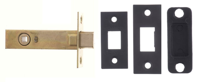 ADB3-MB Atlantic Hardware Matt Black Bathroom Mortice Deadbolt