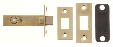 2.5, 3 And 4 Inch - Polished Brass Bathroom Deadbolt