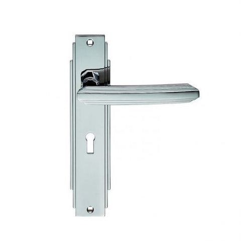 ADR011CP CARLISLE BRASS POLISHED CHROME LOCK KEYHOLE DOOR HANDLES