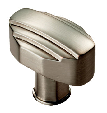 Fingertip 'Art Deco' Style Cabinet Knob (30mm), Satin Nickel - ADR501BSN