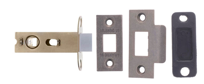 2.5 Inch AL25DS Distressed Silver Pewter Mortice Latch - 45mm backset