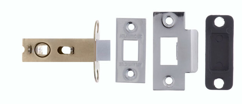 2.5 Inch AL25PC Polished Chrome Mortice Latch - 45mm Backset