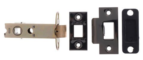 Atlantic Hardware UK AL3BN Black Nickel Mortice Door Latch, 3 Inch
