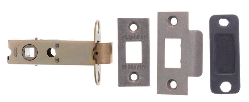 3 Inch Pewter Distressed silver AL3DS Mortice Door Latch