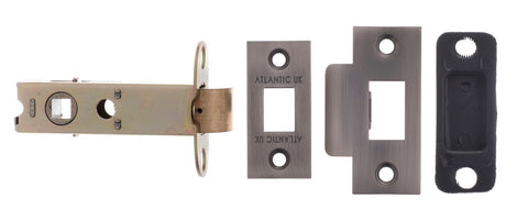 Matt Gun Metal Atlantic UK Mortice Latch 3 Inch, 60mm Backset