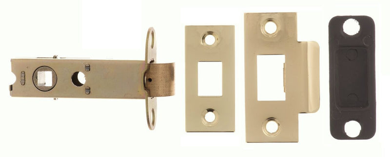 3 Inch AL3PB Polished Brass Heavy Sprung Mortice Latch