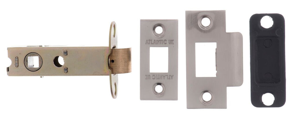 3 Inch AL3SN Satin Nickel Heavy Sprung Mortice Latch