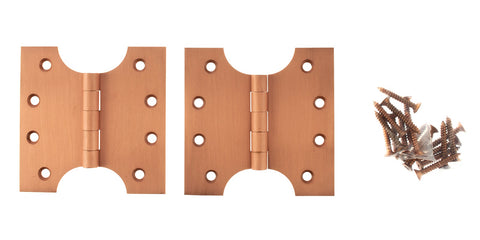 4 x 4 Inch Urban Satin Copper Atlantic UK Parliament Hinges - APH424USC
