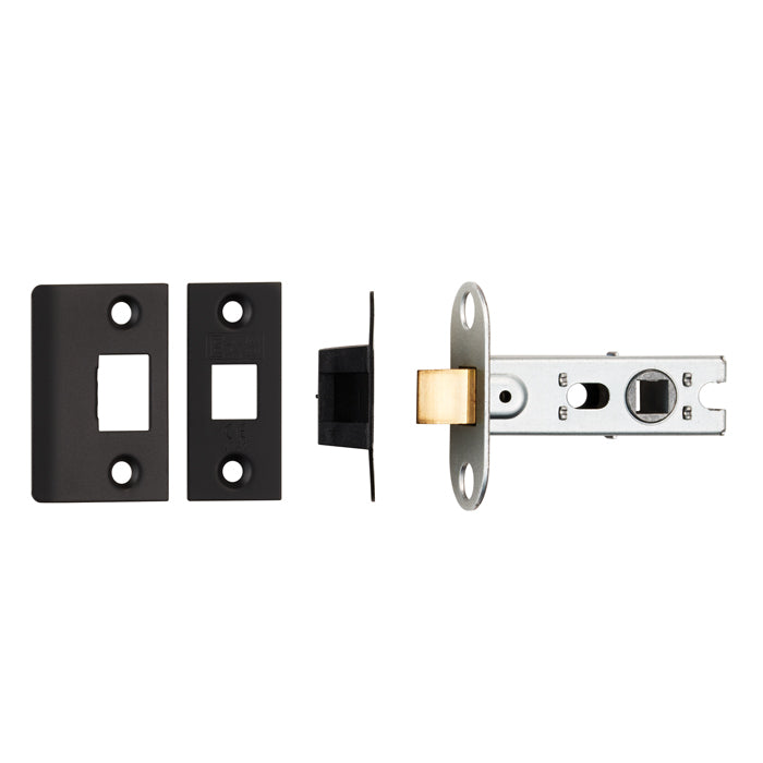 Carlisle Brass/Eurospec Matt Black Mortice Latch - 65mm OR 76mm