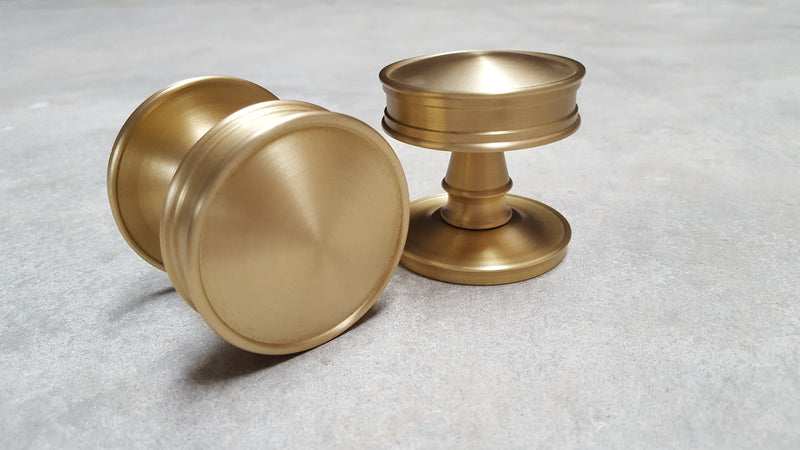 Frelan Burlington Range Berkeley Mortice Door Knobs BUR100SB - Satin Brass
