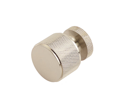 Burlington Piccadilly Knurled Cupboard Knob 30mm, Antique Brass, Dark Bronze, Polished or Satin Nickel & Satin Brass