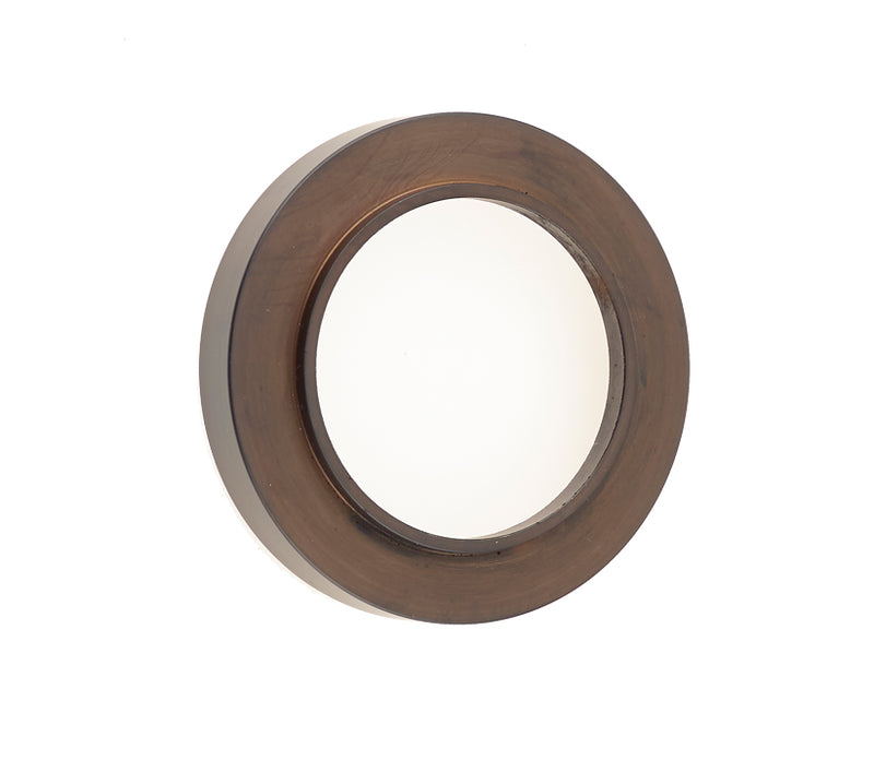Burlington Range Standard Escutcheon With Plain Outer Rose Cover - Dark Bronze - BUR71DB