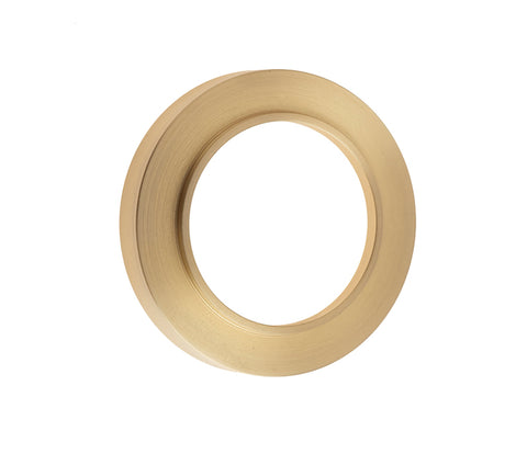 Burlington Range Standard Escutcheon With Plain Outer Rose Cover - Satin Brass - BUR71SB