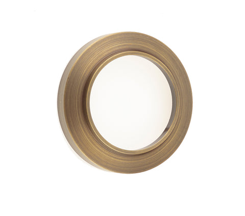 Burlington Range Standard Escutcheon With Chamfered Outer Rose Cover - Antique Brass - BUR72AB