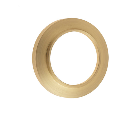 Burlington Range Standard Escutcheon With Chamfered Outer Rose Cover - Satin Brass - BUR72SB