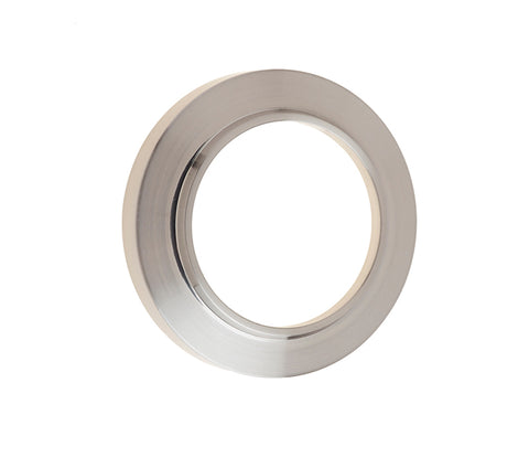 Burlington Range Standard Escutcheon With Chamfered Outer Rose Cover - Satin Nickel - BUR72SN