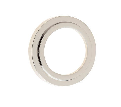 Burlington Range Standard Escutcheon With Stepped Outer Rose Cover - Polished Nickel - BUR73PN