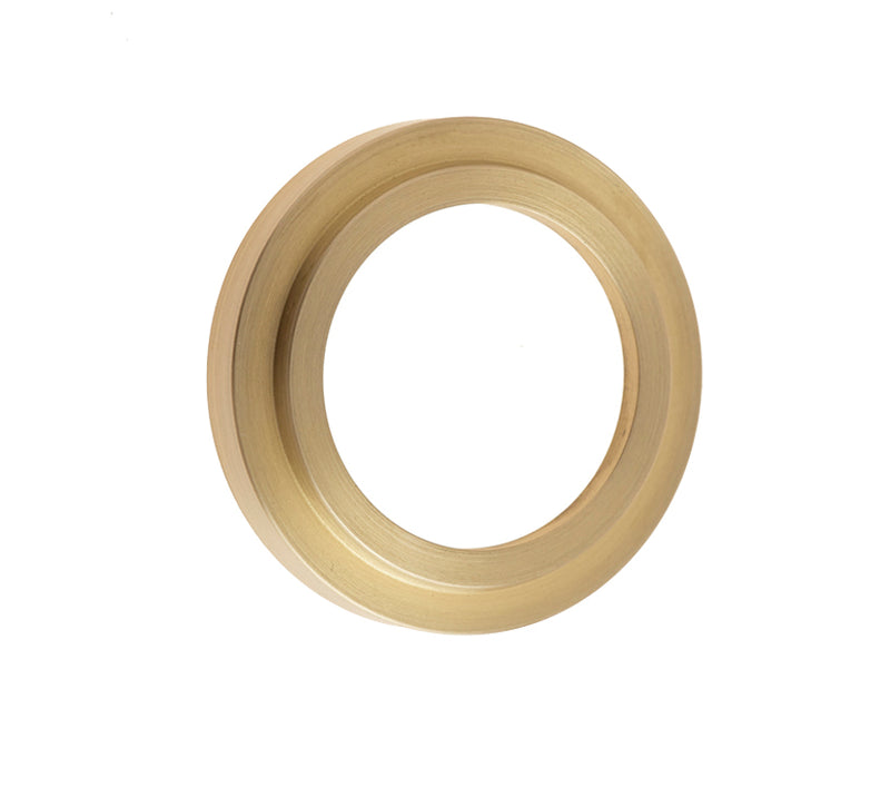 Burlington Range Standard Escutcheon With Stepped Outer Rose Cover - Satin Brass - BUR73SB