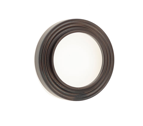 Burlington Range Standard Escutcheon With Reeded Outer Rose Cover - Dark Bronze - BUR74DB