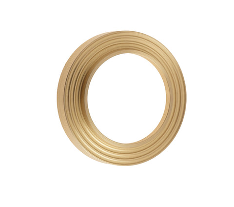 Burlington Range Standard Escutcheon With Reeded Outer Rose Cover - Satin Brass - BUR74SB
