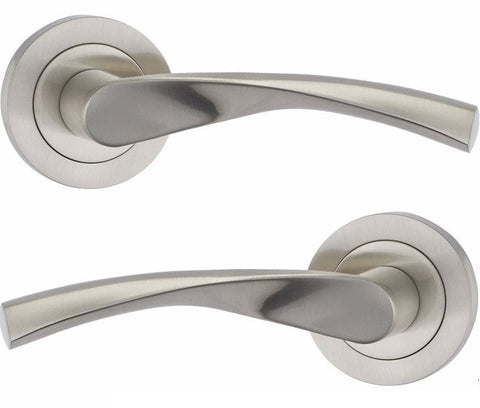 Cosmos Door Handles on Round Rose - M4D845PC/SC