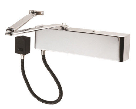 Power Size 3 Enduromax DDA Compliant Electromagnetic HO/FS Door Closer - Stainless Steel