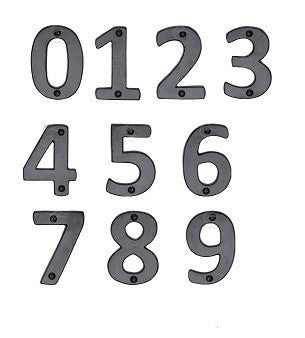 FB351 76mm Black Antique Door Numerals
