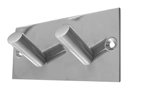 JSS901C Double Robe Hook on Square Plate